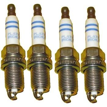 4 Piece Set of Bosch OEM Spark Plugs # 0242240627 / FR6KPP332S - Audi / VW OE #: 101905631B - NEW Platinum Iridium Volkswagen
