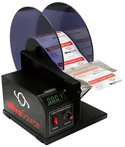 UltraSource 867076-100 Automatic Pressure Sensitive Label Dispenser, 11'' Length x 11'' Width X 15'' Height by UltraSource