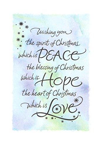 Religious Christmas Card 9 Pack ~ Spirit of Christmas, Blessed Season (5' x 7'; White Envelopes; 9-1)