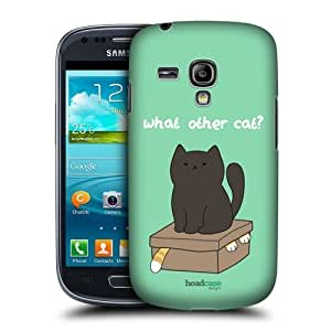 AIYAYA Samsung Case Designs What Other Cat Ceiling Cat Vs Basement Cat Protective Snap-on Hard Back Case Cover for Samsung Galaxy S3 III mini I8190