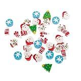 WEIYI Creative Cute Cartoon Pattern Mini Pencil Rubber Eraser for Kids Christmas Gifts