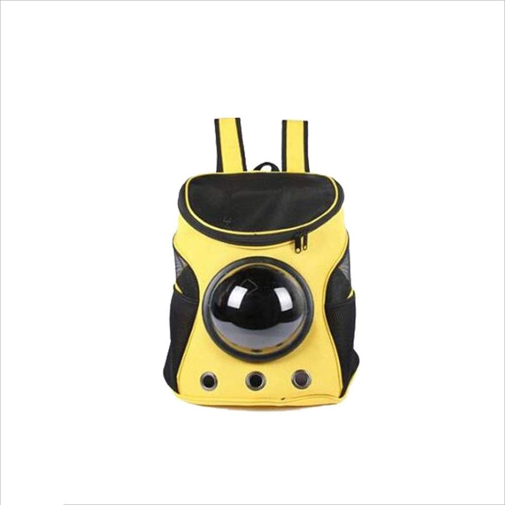 Yellow YSNRH Pet Backpack Pet Carrier,Dog Cat Space Capsule Shaped Puppy Travel Carrying Backpack,Breathable Shoulder Outside Portable Bag Pet Products Outdoor,Travel,Walking,seat Carrier (color   Yellow)