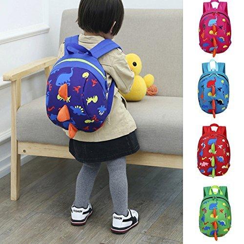 sinwoベビー男の子女の子子供用子かわいい恐竜パターン動物バックパック幼児用学校バッグショルダーバッグハンドバッグ  グリーン B074N1RSRR