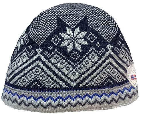 Dale of Norway Unisex Glittertind Hat Off-White/Dark Charcoal Hat LG ()