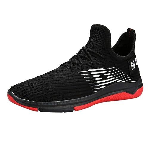 LHWY Zapatos de Deporte Zapatillas,Mocasines con Cordones de los Hombres de Moda Zapatillas de Deporte Casuales Sólidos Zapatos de Tabla Plana: Amazon.es: ...