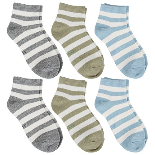 Cottonful 100% Cotton Contact Kids/Toddlers Socks (Medium, Striped Boy)