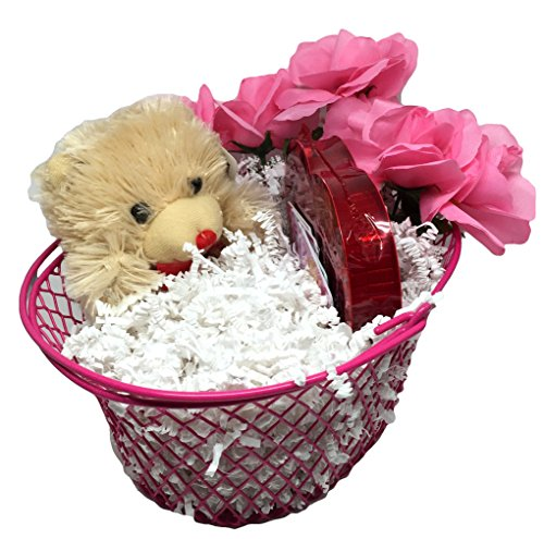 Easter I Love You Gift Set with Chocolate Scented Plush Bear, Chocolates, Romantic Coupon Cards and Pink Rose Bouquet