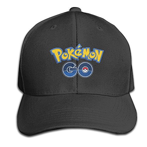 Hip Hop Pokemon Go Cotton Baseball Cap Peaked Hat Adjustable For Unisex Black