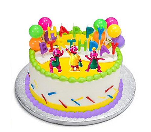 Amazon CakeSupplyShop CKB6Y Barney Birthday Cake Decoration Party Favors Figurine Toys Games