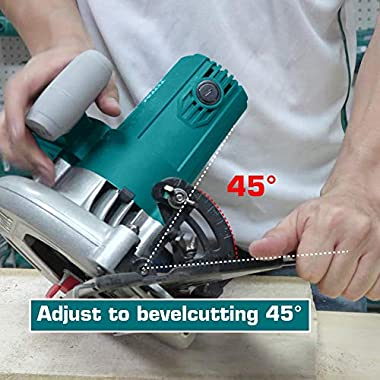 MR LIGHT TOTAL 1500W, 5000RPM with Adjustable Depth and Bevel Cutting Circular Saw (Multicolour) 13