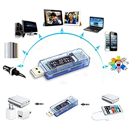 diymore TFT USB Multimeter Tester Spannungspr/üfer Stromtester Voltmeter Stromz/ähler Amperemeter Batterieladung Widerstandstester Voltage Power Akkumulierte Kapazit/ät Energie UT21B mit Bluetooth