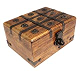 Axventari Large Treasure Chest Box Wood Decorative Keepsake 9' x 7' x 5'
