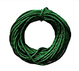 1 roll 15M/50ft Nylon Outdoor Safety Climbing Abseiling Cord Equipment Rescue Parachute Clothesline Multi-purpose Tent Rope (Dark green)