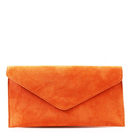 orange Bags Italian With Chain Fancy Real Leather Prom Women Party Straps Clicktostyle Suede Clutch 4wZzxOqnB