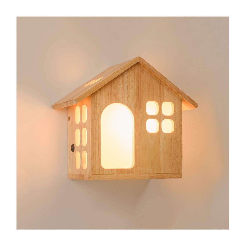 Unbekannt $Wall lamp Light Wandleuchte E27 Cabin Night Light Kinderzimmer Schlafzimmer Wohnzimmer Korridor Wandleuchte Wanddekoration Lichter (größe : A)