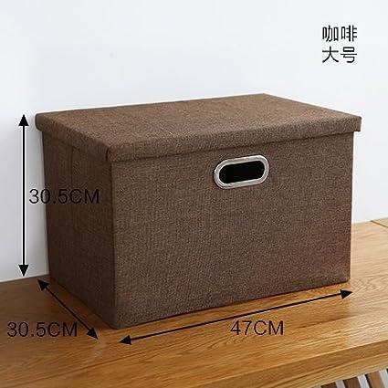 YMFIE Estilo Europeo Simple Tela Plegable Caja de almacenaje guardarropa Armario Accesorios Juguetes Libros Sorting Box