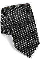 "Boss Hugo Boss Men's Pin Dot Italian Silk Tie, Black 3"" (7.5 CM) 50291611"