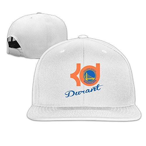 Custom Unisex-Adult KD Go Golden Team Flat Brim Summer Caps White