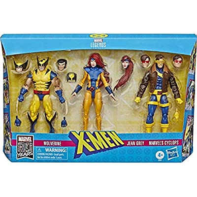 COLLECTOR X Men Legends- 3 Pack! Wolverine, Jean Grey and Cyclops! Each Figure is 14cm: Toys & Games