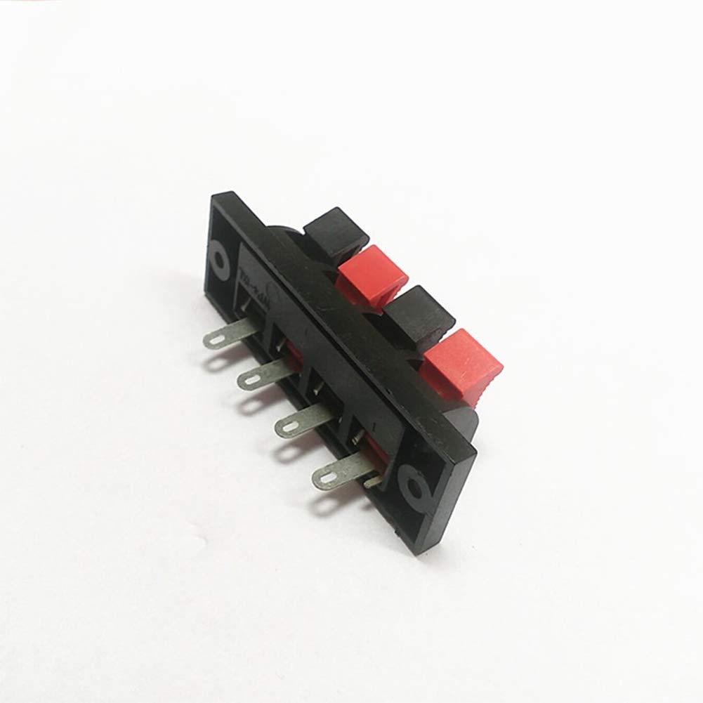 2 pcs Wie abgebildet GEZICHTA 2 x Sub//Lautsprecherbox-Klemme//Bindungsklemme//Federklemme 4-Wege-Anschluss 2 St/ück Draht Terminalverbinder Block 4-Wege Box Binding Post Lautsprecher Klemme extern