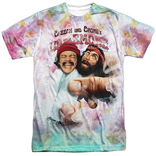Cheech & Chong - Fried Tie Dyed T-Shirt Size (Guy Hippie)