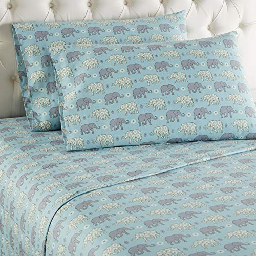 Thermee Micro Flannel Sheet Set, Full, Elephant March -