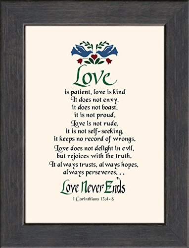 Love Is Patient Scripture Framed Art Gift Of Motivational