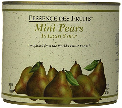 L'essence des Fruits Mini Pears in Light Syrup, 75 (Pear Essence)
