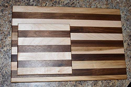 - Black Walnut and Maple Small and Large Cutting Board Gift Set