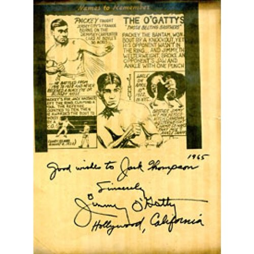 Jimmy O'Gatty Autographed / Signed Newspaper Comic Page from Hollywood Collectibles