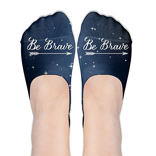 Be Brave Womens Thin Casual No Show Socks Non Slip Flat Boat Line by Wendengly