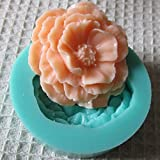 FVIEW 3D Mini Peony Fondant Mold Silicone Cake Chocolate Moulds