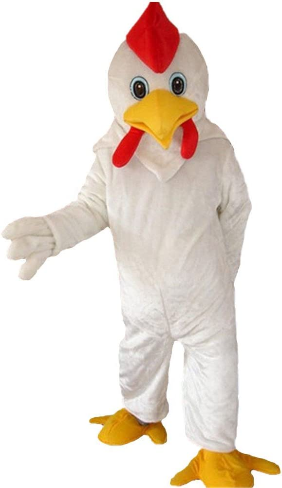 DREAM--STORE Blanco Pollo Gallo Mascota Disfraz para Halloween ...