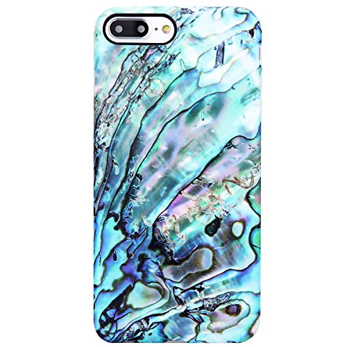VIVIBIN iPhone 7 Plus Case,iPhone 8 Plus Case,Cute Green Marble for Women Girls,Clear Bumper Soft Silicone Rubber TPU Best Protective Cover Slim Fit Phone Case for iPhone 7 Plus/iPhone 8 Plus