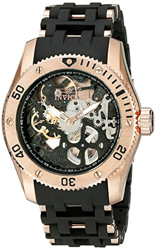 Invicta Men's 10349 Sea Spider Stainless Steel Mechanical Hand-Wind Watch With Black Polyurethane B