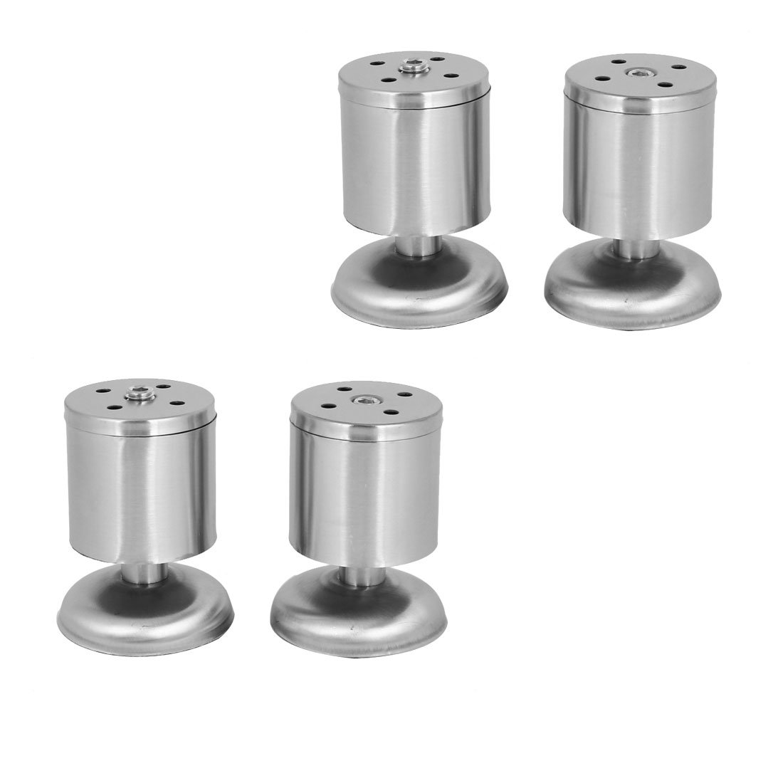 uxcell Furniture Cabinet Bed Table 50mmx80mm Round Shape Metal Adjustable Leg Feet 4pcs