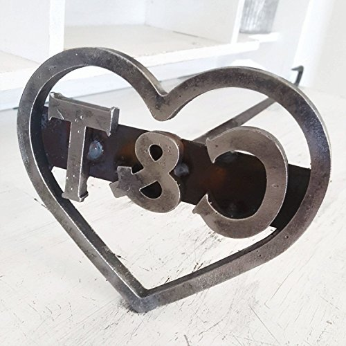 - Custom Heart Branding Iron Stamp - Cowboy Monogram - The Heritage Forge Heart & 2 Characters / 36inch (Default)