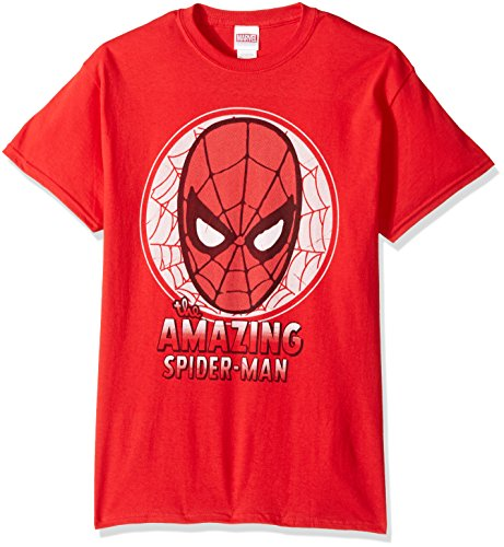 Marvel Men's The Amazing Spiderman T-Shirt, Red, 2XL