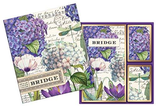 Michel Design Works Bridge Cards Gift Set, Hydrangea