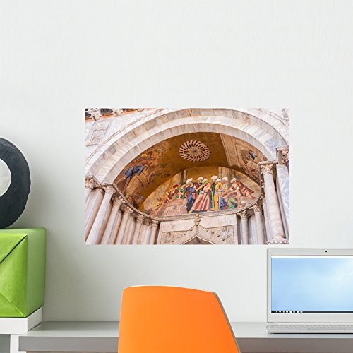 Wallmonkeys Dettagli Della Basilica Di Wall Mural Peel and Stick Graphic (18 in W x 12 in H) WM362257