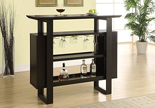 Monarch Specialties I I 2548 Bar Unit with Bottle and Glass Storage, 48