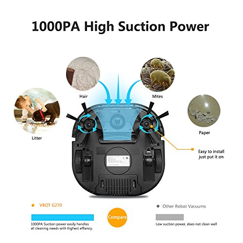 Vbot G270 Robot Vacuum Cleaner For Pet Hair With Mop And