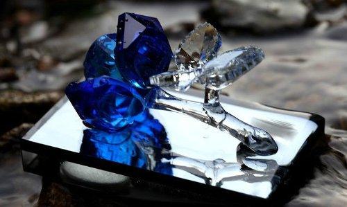 New 7color Crystal Car Air Freshener Perfume Bottle Empty (Blue)