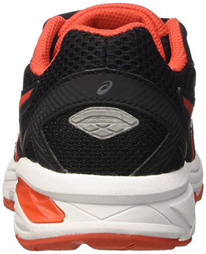 Asics Gt-1000 5 Gs, Zapatillas de Gimnasia Unisex Niños Negro (Black/vermilion/carbon)