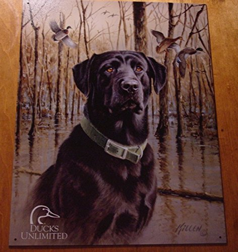 Ducks Unlimited Black Lab Labrador Retriever Hunting Dog Lake Hunter Cabin Sign