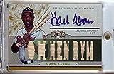 Hank Aaron 2014 Topps Triple Threads Bat Auto Autograph Atlanta Braves #HA1 4/9