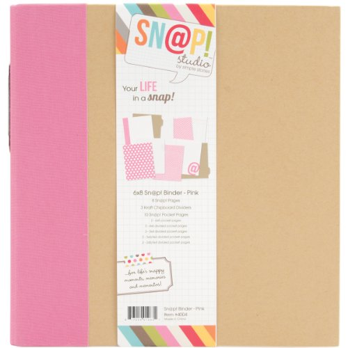 Simple Stories 4004 Snap Album, 6 by 8-Inch, Pink -