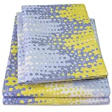 yellow sheets full size - 1500 Supreme Collection Extra Soft Malibu Bright Yellow Blending with Gray Chevron Pattern Sheet Set, Full - Luxury Bed Sheets Set With Deep Pocket Wrinkle Free Hypoallergenic Bedding, Full Size