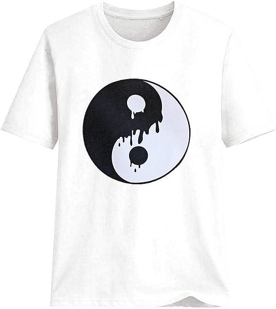 SMILEQ - Camiseta de Manga Corta para Mujer Blanco XXX-Large: Amazon.es: Ropa y accesorios