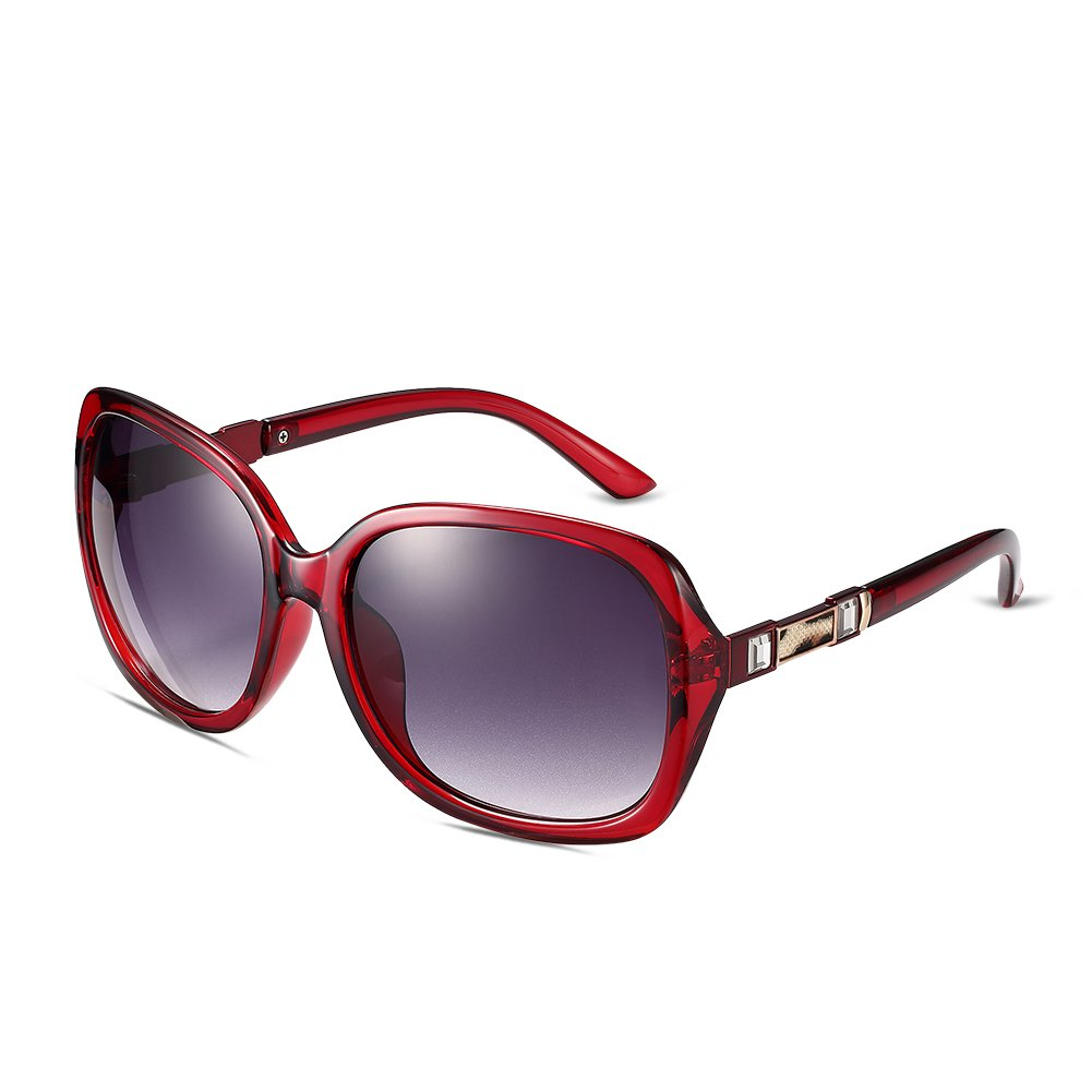 NYKKOLA da donna alla moda occhiali da sole polarizzati oversize Shades bordato occhiali da vista 10...